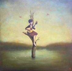 Southern Song Bird by Artist Duy Huynh (Lark & Key Gallery, Charlotte, NC) Surreal Photos, Surreal Art, Claudia Tremblay, Cool Album Covers, Surrealism Painting, Artist Names, Beautiful Artwork, Beautiful Mind, Painting Inspiration