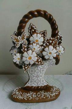 Sweet Cookies, Fun Cookies, Holiday Cookies, Cupcake Cookies, Flower Cookies, Easter Cookies, Bake Off Recipes, Cookie Baskets, Bee Cupcakes