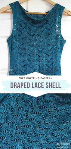 Free Knitting Patterns For Women, Lace Knitting Patterns, Lace Patterns, Knitting Designs, Lace Knitting Stitches, Designer Knitting Patterns, Lacy Tops, Summer Knitting, Knit Crochet