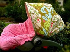 REVERSIBLE Designer Infant Car Seat Cover Enchanted by ChubbyBaby, $99.00
