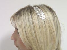 Silver Laurel Leaf Headband Laurel Leaf by JewelrytobeCherished