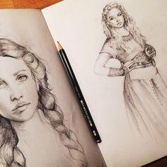 Braids & Lagertha ✏️ #drawing #pencil #sketch #sketchbook #braids #lagertha #vikings