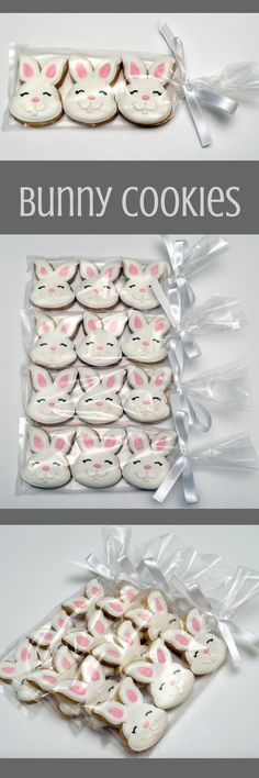 Decorated Cookies - Easter - Rabbits - Easter Bunnies - Favors - Gift Ideas #affiliate Honey Cookies, Iced Cookies, Cupcake Cookies, Sugar Cookies, Easter Cupcakes, Easter Cookies, Easter Treats, Iced Biscuits, Cookie Frosting