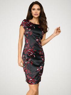 Kleid von ashley brooke in schwarz