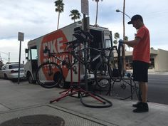 Mike's Bike Truck will bring bike repair to you....mobile bike shop in the Coachella Valley (Palm Springs area), California......Call (760)413-8489 or email mike@mikesbiketruck.com