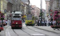 Where my family is from. Two trams on Széchenyi street, Miskolc, Hungary. Photo by József Birincsik. Beautiful Places In The World, Places Around The World, Around The Worlds, Heart Of Europe, Danube River, Australia Living, Central Europe, City Streets, Merida