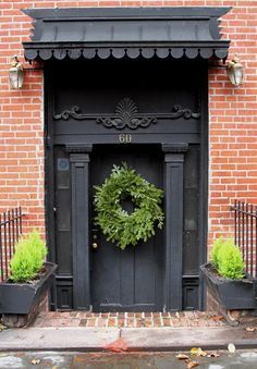 The Wreaths of Brooklyn: A Neighborhood Tour Gardenista#  LOVE the metal-scalloped eyebrow awning.