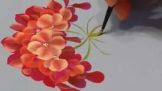 One stroke begonia двойной мазок ( бегония)