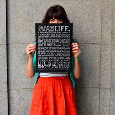 Lámina Holstee Manifesto Black