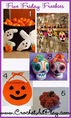 Crochet your Halloween away.  CHECKED. FREE PATTERNS, 2/15