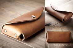 Leather Sunglasses Case Leather Sunglass Case Glasses by MrLentz