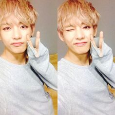 V being cute, sexy, beautifull, handsome, lovely. Everything in one picture…