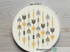 cross stitch pattern arrows arrows native PDF by Happinesst