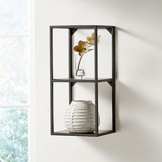 Display Shelves Picture Ledges Crate And Barrel In 2020 Display Shelves Wall Display Crate And Barrel