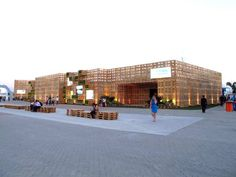 It's part of the exhibition at Athletes' Park, in which national and state governments showcase their efforts in sustainable design.