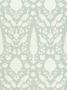 DecoratorsBest - Detail1 - Sch 5004122 - Chenonceau - Aquamarine - Wallpaper - - DecoratorsBest
