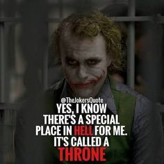 Quotes for Motivation and Inspiration QUOTATION - Image : As the quote says - Description 979 Likes, 10 Comments - Joker Quotes ( on Joker Qoutes, Joker Frases, Best Joker Quotes, Badass Quotes, Dark Quotes, Strong Quotes, True Quotes, Funny Quotes, Great Quotes