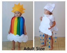 Adult Couple Rainbow Cloud Costumes Group Halloween Costume