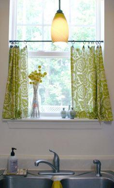 Gardinenstange Mini-küche Sichtschutz-ideen Fenster-dekoration