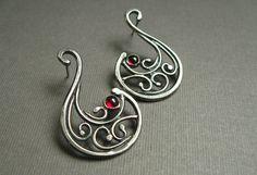 Silver Scroll Work Earrings – A Jewelry Making Tutorial