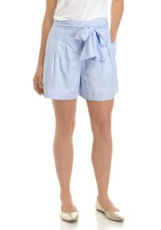 Yarn-dyed cotton enhances these shorts from Crown & Ivy™, complete with a tie waist for a trendy finish. Sporty Look, Sporty Style, Preppy Style, Short Outfits, Summer Outfits, Short Dresses, Womens Long Shorts, Tie Shorts, Plus Size Shorts