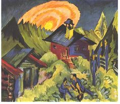 Ernst Ludwig Kirchner - Mondaufgang auf der Staffelalp.