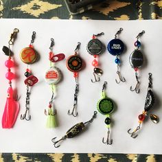 My beer bottle cap fishing lures