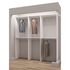 TidySquares Classic White Wood 75 Inch Reach In Closet Organizer (White)  (Chrome) | Pinterest | White Wood, Classic White And Chrome