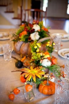 Thanksgiving Fall Tablescape Ideas From Holly Chapple 14 | photography by http://genevieveleiper.com/