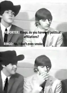 9 Times The Beatles Trolled Interview Questions - We share because we care. A resource for sharing the latest memes, jokes and real stuff about parenting, relationships, food, and recipes Ringo Starr, Stuart Sutcliffe, George Harrison, Paul Mccartney, John Lennon, Great Bands, Cool Bands, Beatles Meme, Beatles Guitar