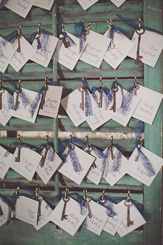 Place cards ..This 1920s Wedding In A Brooklyn Speakeasy Is So Awesome #refinery29