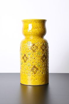 Bitossi Yellow Spagnolo Vase Italian Pottery by afterglowretro, £34.00