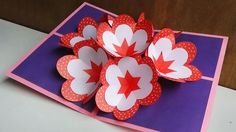 DIY Pop Up Card | How To Make A 3d Flower Pop UP Card |