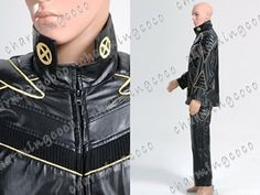 X-men Cosplay Costume Wolverine Hugh Gold Line Black Leather Uniform (Male S) - Click image twice for more info - See a larger selection of mens halloween costume at http://costumeriver.com/product-category/mens-halloween-costumes/ -  holiday costume , event costume , halloween costume, cosplay costume, classic costume, scary costume, super heroes costume, classic costume, clothing