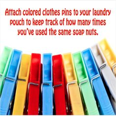 A tip to remember how many loads you've done with the same bag of soap nuts. Best Laundry Detergent, Soap Nuts, Bag, Bags