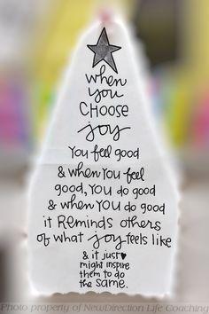 Joy can bring clarity.