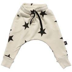 Nununu - Stars Baggy Pants - White