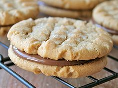 These Peanut Butter Chocolate-Hazelnut Cookie Sandwiches are so simple, yet dangerously delicious! And you get to eat two cookies at once!
