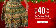 UPTO 30% off on printed Skirt from Handicrunch