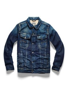 A Denim Fashion Statement For Menkind . Rich Casual & Trendy Looks for The Gentleman of Today's world. Denim Jacket Fashion, Denim Jacket Men, Denim Shirt, Denim Jeans, Raw Denim, Denim Look, G Star Raw, Jeans Style, Jacket Style