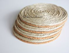 I am so IN LOVE with this site (Make it & love it)! More DIY coasters!! :) YIPPEE!!