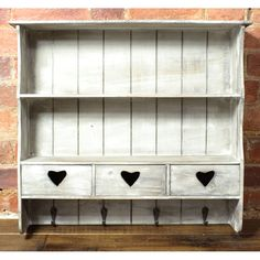 Reclaimed Wood Heart Hall Shelf