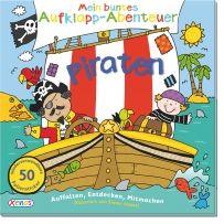 Mein buntes Aufklapp-Abenteuer: Piraten. Mit dem Piratenschiff kannst du die Welt entdecken, einen Schatz finden und auch Wörter, Zahlen, Farben und Formen lernen. Klappe dieses wunderbare Auffaltbuch auf und spiele und lerne. Mit vielen bunten Stickern.