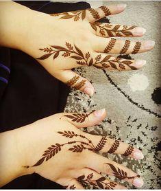 Pretty Henna Designs, Indian Henna Designs, Finger Henna Designs, Mehndi Designs For Girls, Mehndi Designs For Beginners, Stylish Mehndi Designs, Mehndi Designs For Fingers, Unique Mehndi Designs, Henna Designs Easy
