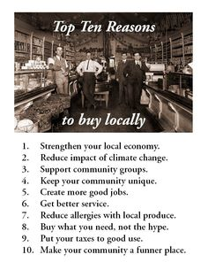 Buy local. Eat local.