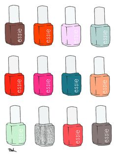 essie! Favorite nail polish!!