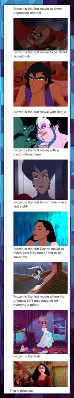 I despise how Frozen is this, Frozen that, it's like everyone has forgotten about other movies.