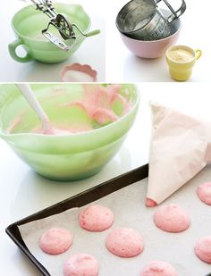 how to make macaroons - I have GOT to learn to make these. So delectable.