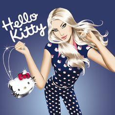 hed kandi hello kitty print!