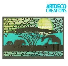African Savanna Card from the Wild & Free Collection- CreateAndCraft